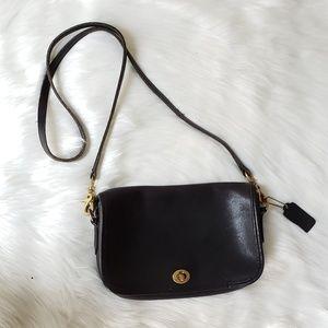Coach Vintage black Bonnie Cashin Leather Flap Bag